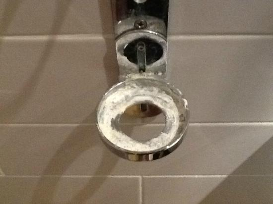 Toll House Inn: Steel holder in our bathroom - quite disgusting