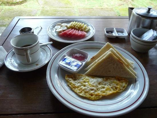 Sanggingan Villa: Breakfast on our terrace