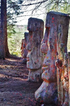 Wildwoodz Paintball and Lasertag Park : Easter Island on the Black Isle