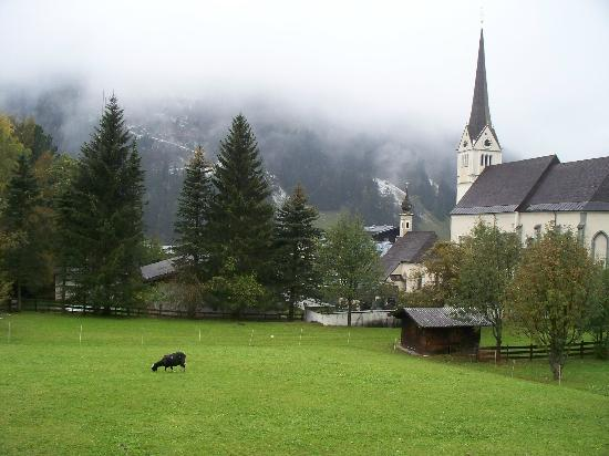 Hotel Sonnhof: Rauris, view from the room