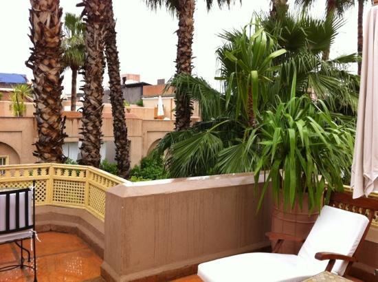 Les Jardins de la Medina : view from our terrace 🌴