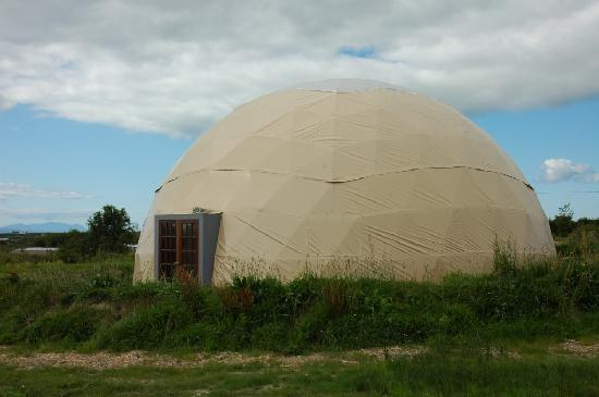 Purecamping: All weather 12m geodesic dome