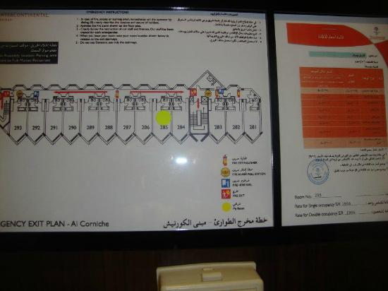InterContinental Hotel Jeddah: Emergency Exit