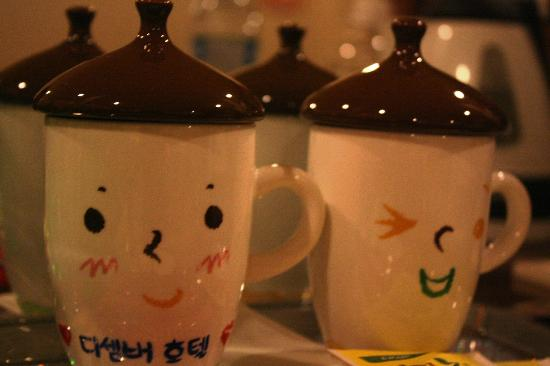 December Hotel Jeju: Cute mugs