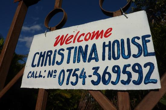 Christina House: The sign on the gate.