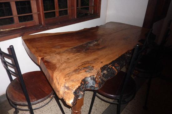 Christina House: One of the dinner tables, they were all made of this wood.