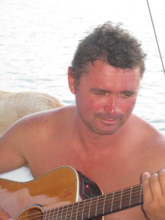Port Aransas, TX: Captain Chester's live on board entertainment.
