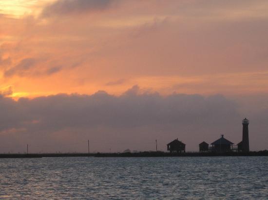 Port Aransas, TX: Sunset view from Stray Cat