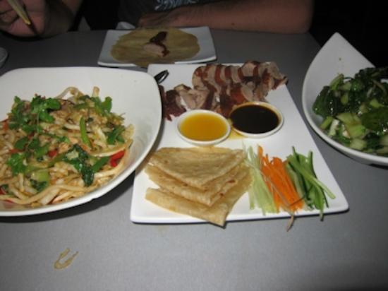 Koi : Noodles, Peking Duck Pancakes and Asian Green Vegetables