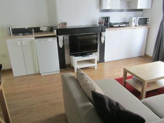Aparthotel Van Hecke: cooking area