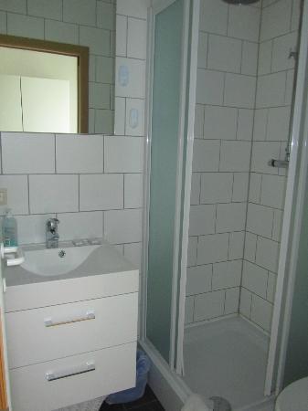 Aparthotel Van Hecke: clean bathroom, lots of hot water