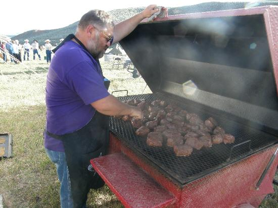Outlaw Trail Ride: Chuck our wonderful cook and supper
