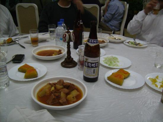 Chongchon Hotel: Abendessen