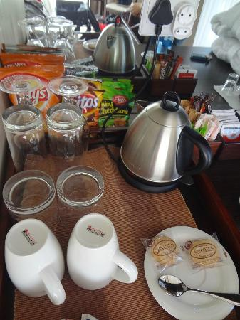 On the Spot B & B at St Francis Bay: Coffee and snack tray in room