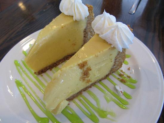 Fins On The Beach: Homemade Key Lime Pie (split to share)