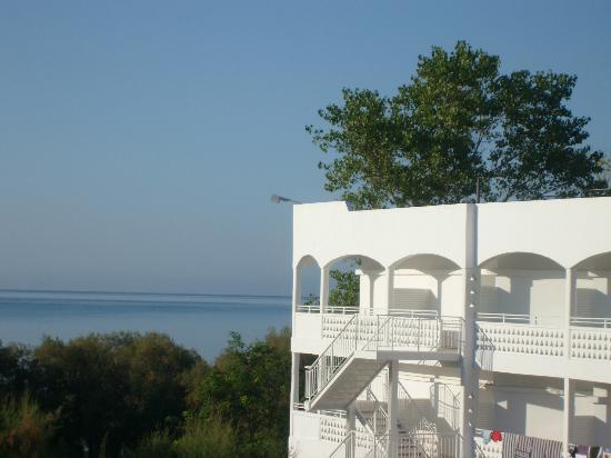 Louis Zante Beach: vista dal balcone della camera