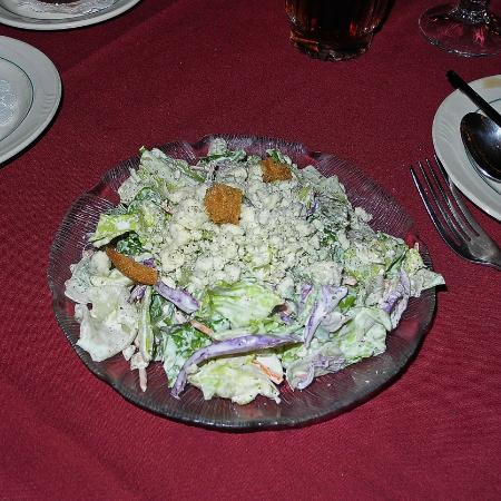KC Steakhouse: Salad with Blue Cheese