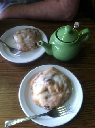 Riverside, Pensilvania: scones and tea pot
