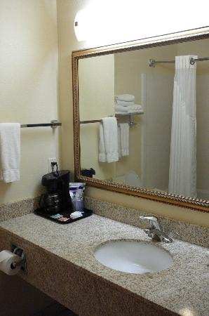 Holiday Inn Express & Suites Jacksonville - Blount Island: Bathroom with individual coffee pot