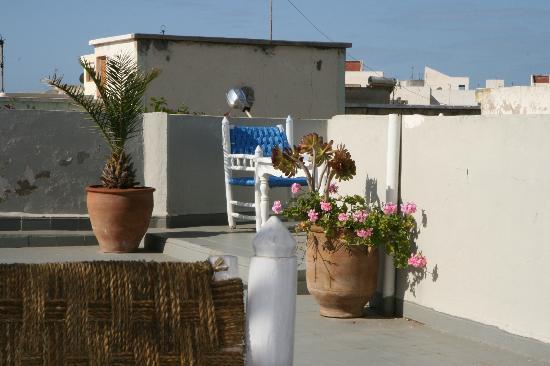 Hotel Vent des Dunes: Terrasse pour le petit-déjeuner