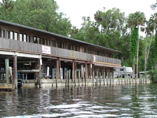 Blair's Jungle Den Fish Camp: View from the river