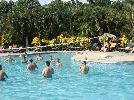 Occidental Grand Papagayo by Barcelo: The pool; having fun playing pool volleyball.
