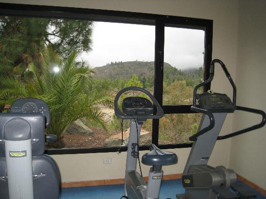 Hotel Rural Las Tirajanas: Gimnasio con vistas