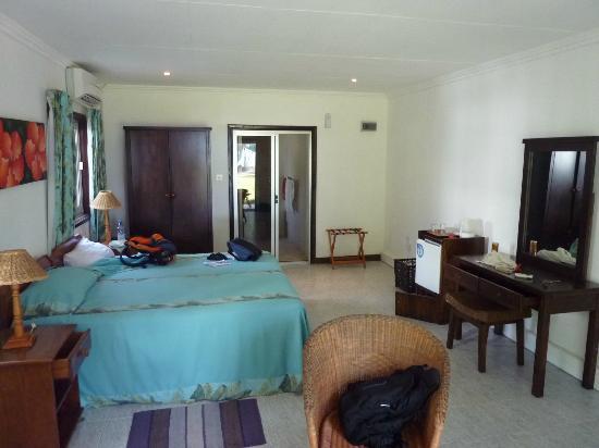 Augerine Guest House: Zimmer Blick von der Terrassentür aus