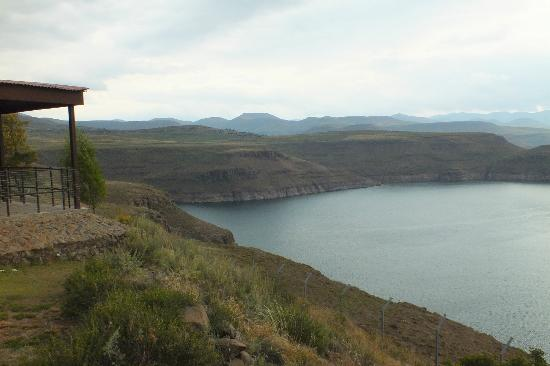 Katse Lodge: View of the Katse Dam