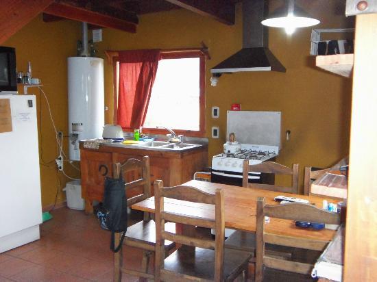 Cabanas Rivendel: cocina comedor
