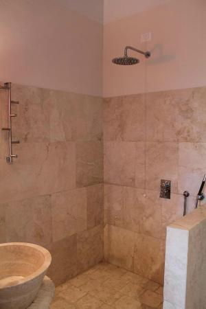 Siena House: Open shower in Cortona room