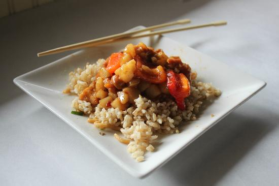 Chin Chin: Kung pao with brown rice