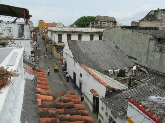 Akel House Hostel: Aussicht von der Terrasse