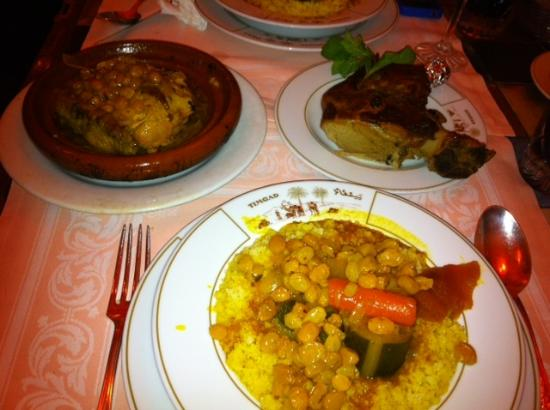 Timgad : Couscous, Tagin and Barbequed  lamb