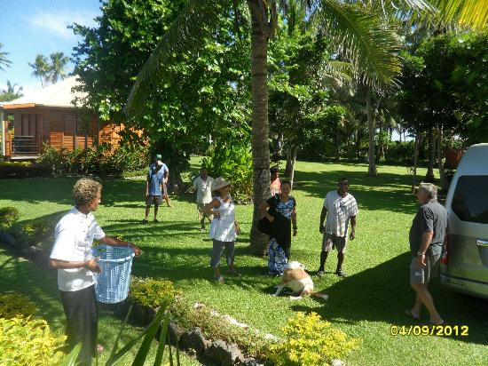 La Dolce Vita Holiday Villas: the staff coming to say goodbye before our departure