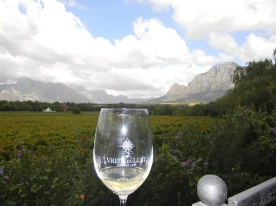 Vrede en Lust Winery: Our view from the verandah tasting area