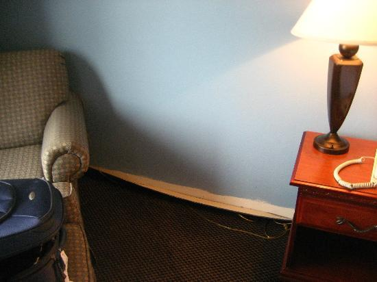 """Holiday Inn Express Greenville Downtown: """"New"""" Carpet pulled away from wall"""
