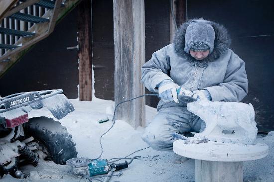Nunavut, Canada: ice carving