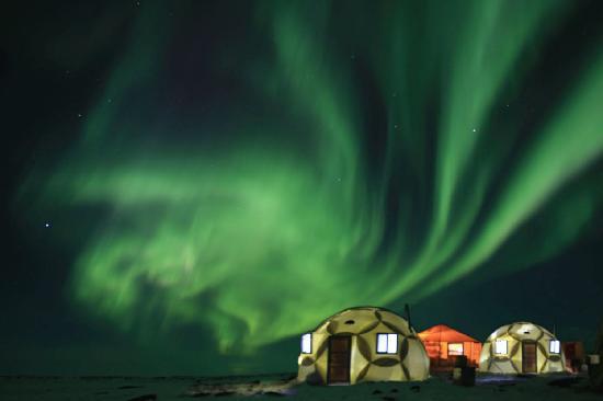 Nunavut, Canada: aurora borealis / northern lights