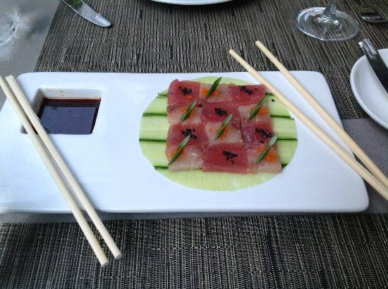 Sunset Marquis: The Checkerboard Hamachi & Tuna Plate