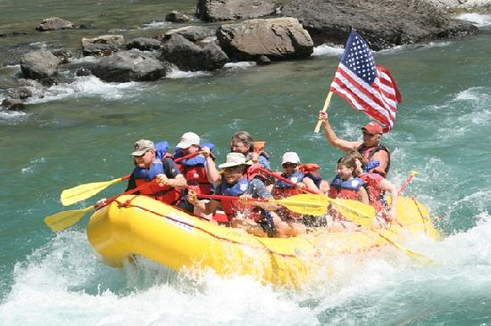 West Glacier, MT: What is better then whitewater rafting on the 4th of July?!?!