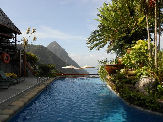 Ladera Resort: View from the back of the pool