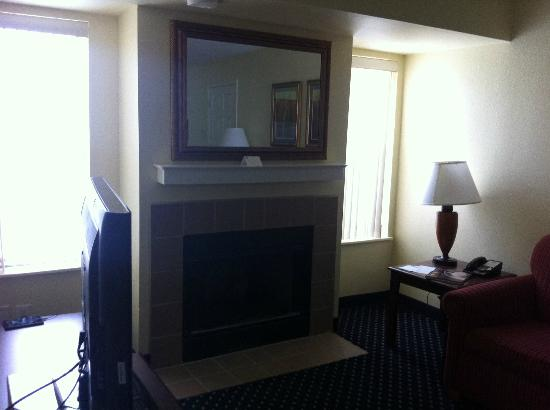 Residence Inn Arlington: living room fireplace