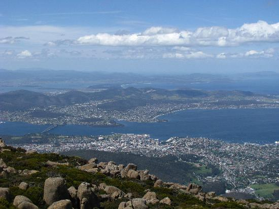 Mount Wellington: vue de hobart du mt wellington