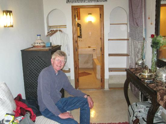 Riad Slawi: hubby hiding fridge - doorway into bathroom
