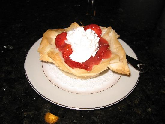 1898 Red Bud Bed & Breakfast: Strawberry Tarts with fresh from the garden organic strawberries.