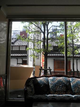 Grand Sauna Shinsaibashi: Outside near front desk
