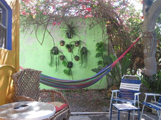 El Encanto: Patio and hammock area
