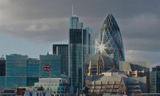 Hilton London Tower Bridge : London skyline & the Gherkin - from our room.
