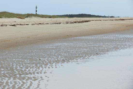 Shackleford Banks : east end of Shack, looking over to Cape Lookout Lighthouse in distance